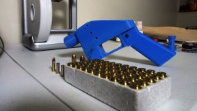 Pistola fabricada con impresora 3D