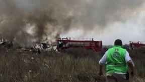 Accidente avión en México