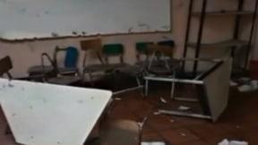 Artefacto cae en colegio de Tumaco.