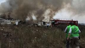 Accidente aéreo en Durango, México