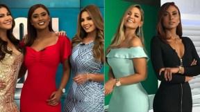 Cindy Better, Diana Mina y Melissa Martínez, presentadoras.