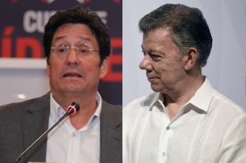 Pacho Santos y Juan Manuel Santos