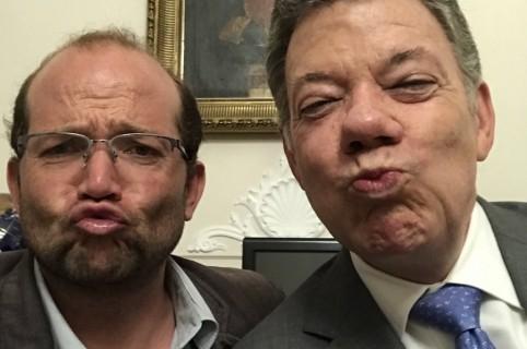 Juan Manuel Santos y Daniel Samper