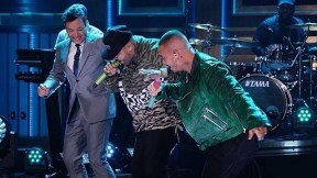 J Balvin y Nicky Jam en programa de Jimmy Fallon
