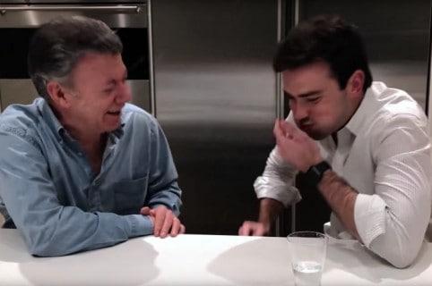 Juan Manuel y su hijo Esteban Santos