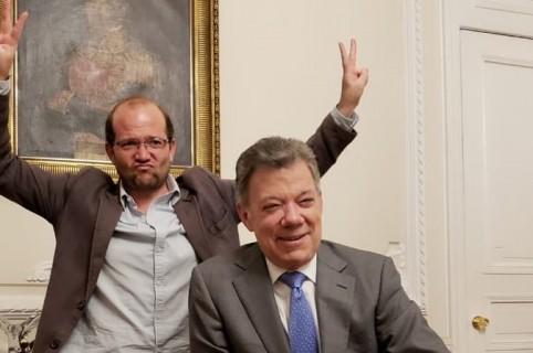 Daniel Samper y Juan Manuel Santos