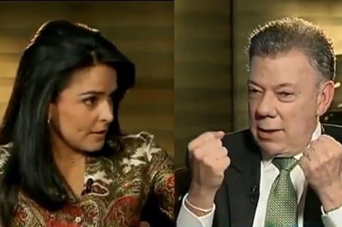 Claudia Palacios y Juan Manuel Santos