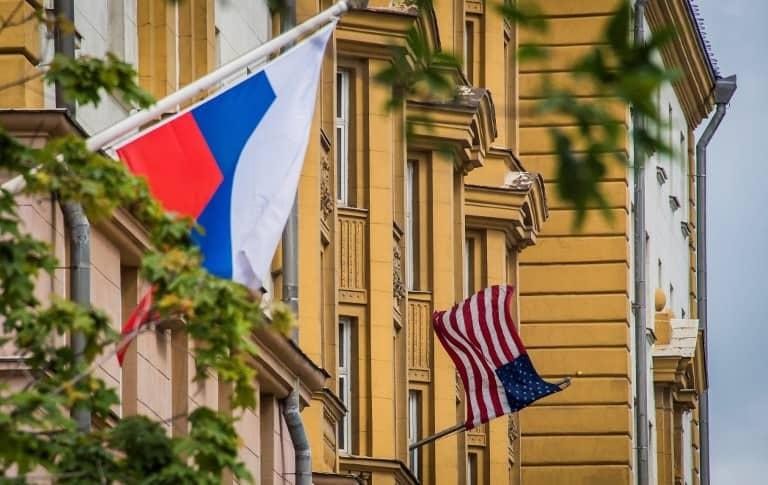 Fachada de la embajada de Estados Unidos en Moscú
