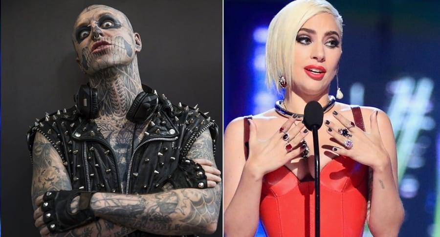 'Zombie boy', modelo, y Lady Gaga, cantante.