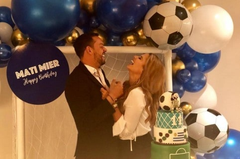Matías Mier, futbolista, y Melissa Martínez, presentadora.