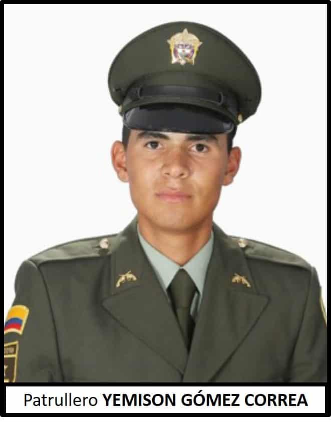 Patrullero Yemison Leandro Gómez Correa