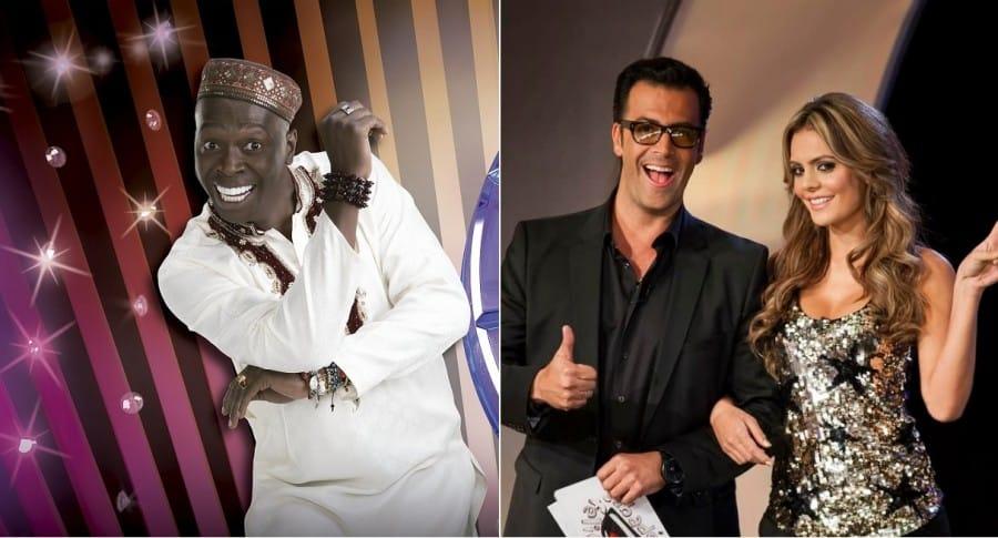 Omar Murillo, actor, Humberto 'el Gato' Rodríguez y Vaneza Peláez, presentadores.
