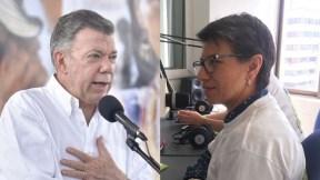 Juan Manuel Santos y Claudia López