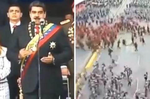 Explosión en discurso de Nicolás Maduro