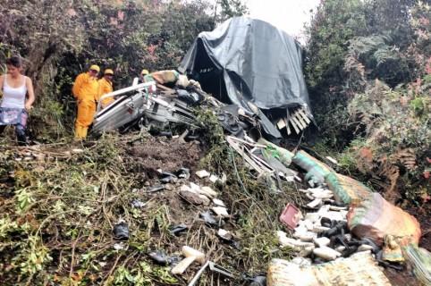 Accidente en la vía Sogamoso- Aguazul