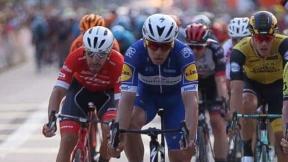 Álvaro Hodeg y Pascal Ackermann en la Vuelta a Polonia