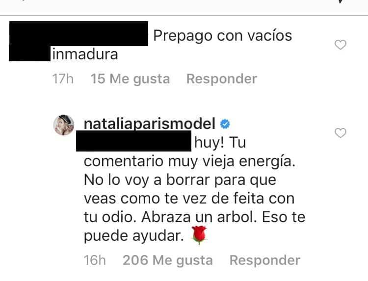 Comentarios Natalia París