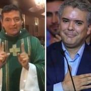 Padre Chucho e Iván Duque