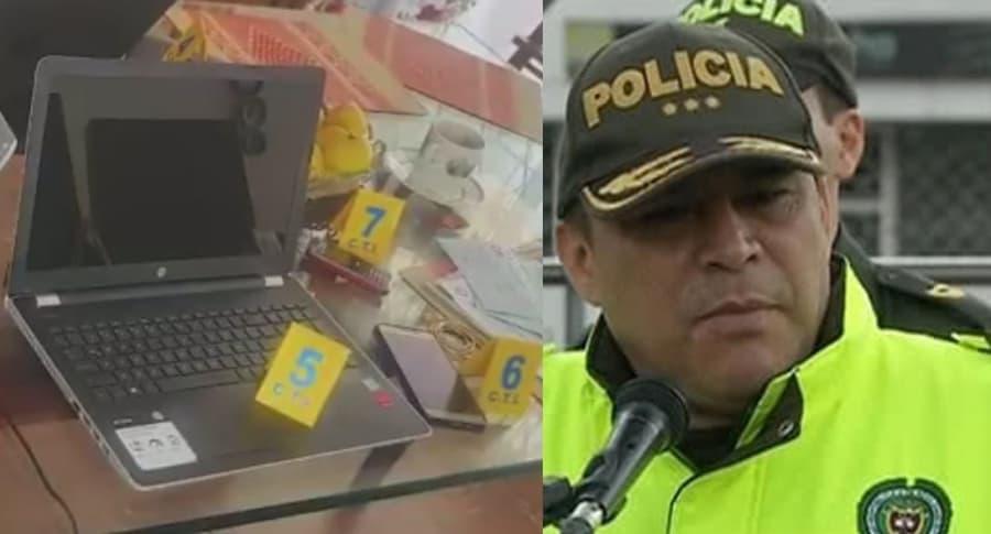 Equipos incautados, general (r) Humberto Guatibonza