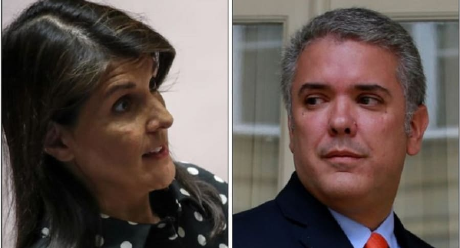 Nikki Haley e Iván Duque