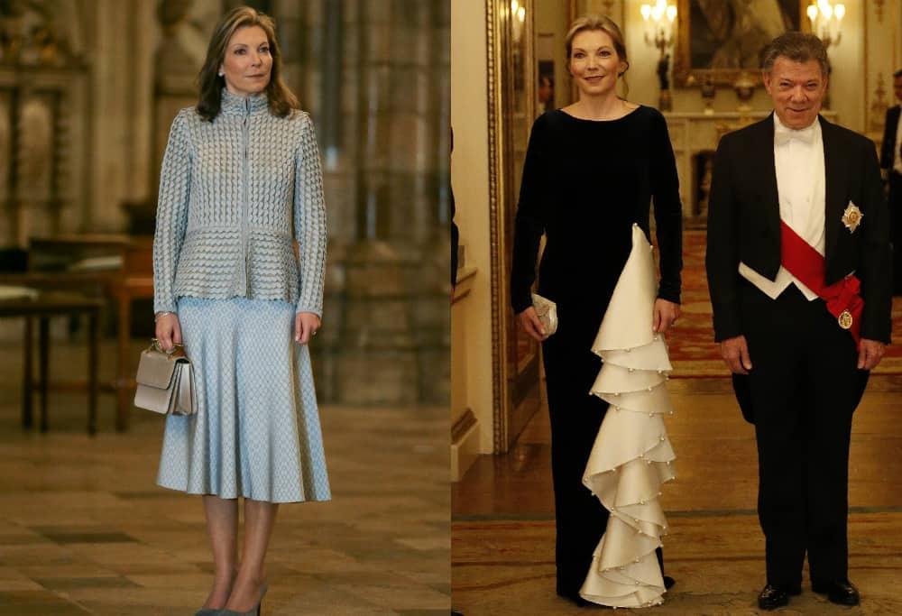 'Tutina' de SAntos en visita a Reina Isabel II