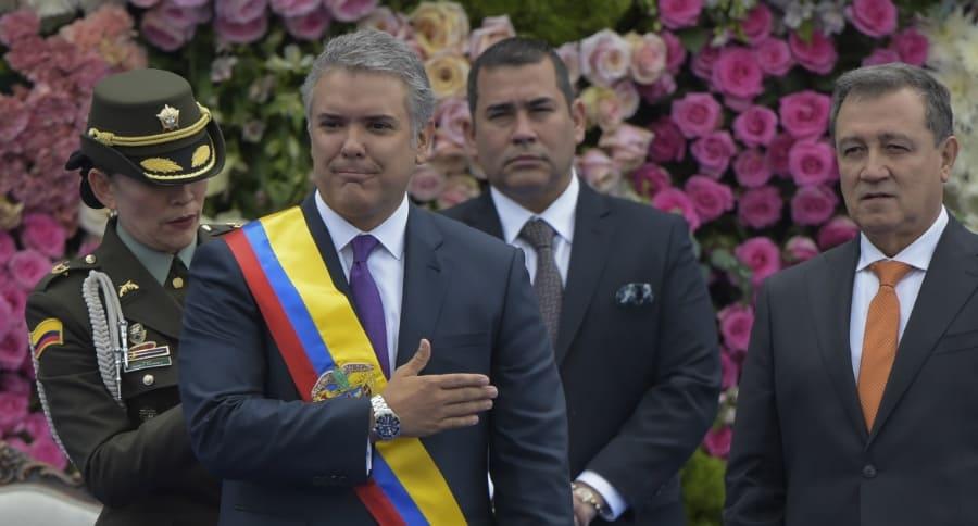 Iván Duque y Ernesto Macías