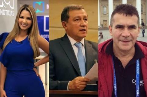 Melissa Martínez Ernesto Macías y Diego Rueda