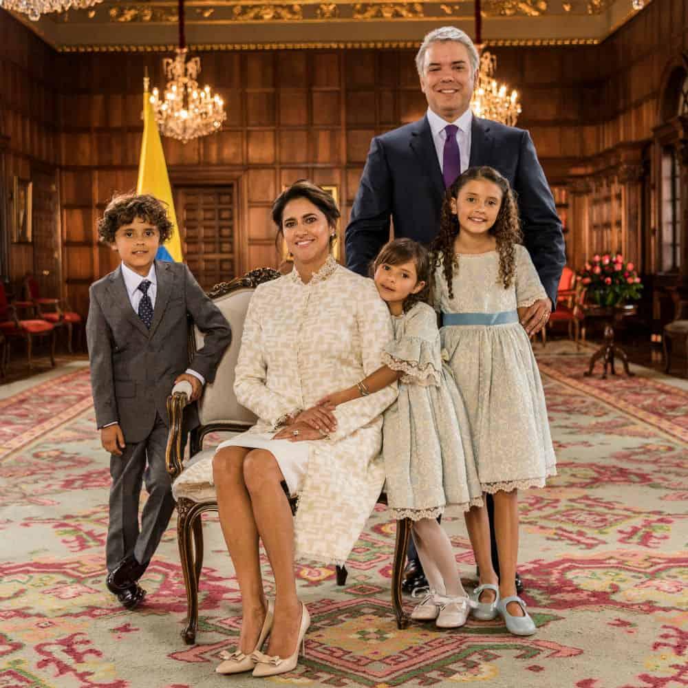 Familia Duque en Casa de Nariño