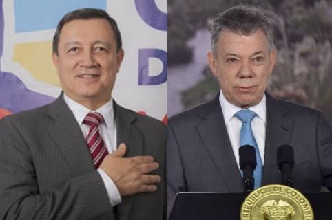 Ernesto Macías y Juan Manuel Santos