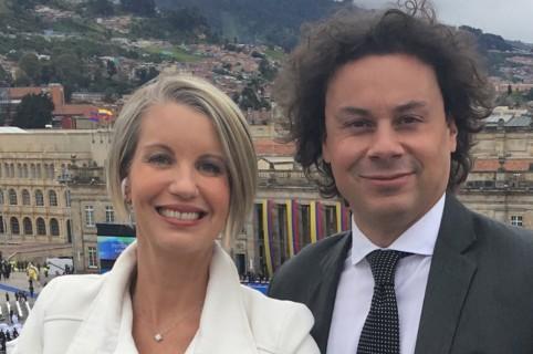 Claudia Gurisatti y Hassan Nassar, periodistas.