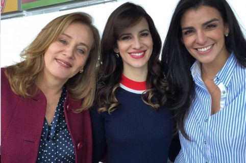 Alejandra Borrero, Laura Londoño y Giovanna Andrade, actrices.