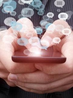chat en teclado móvil