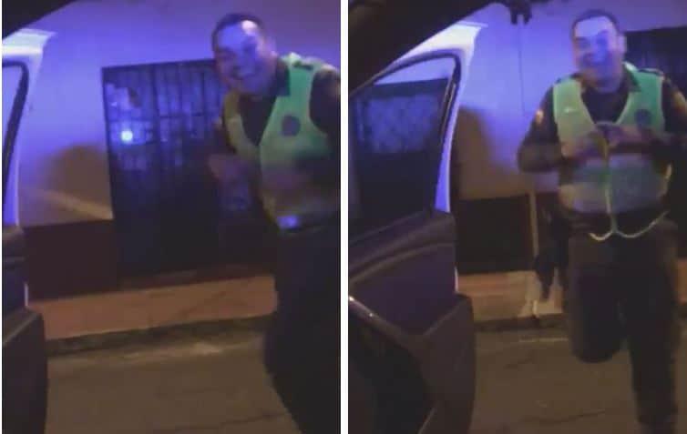 Policía bailando en el reto 'Kiki challenge'
