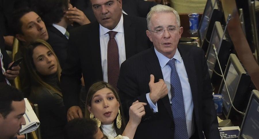 Álvaro Uribe y bancada Centro Democrático