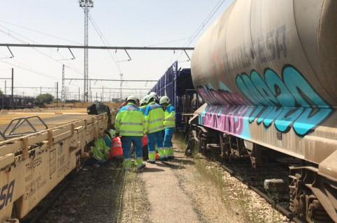 Rescate de joven electrocutado en tren en España
