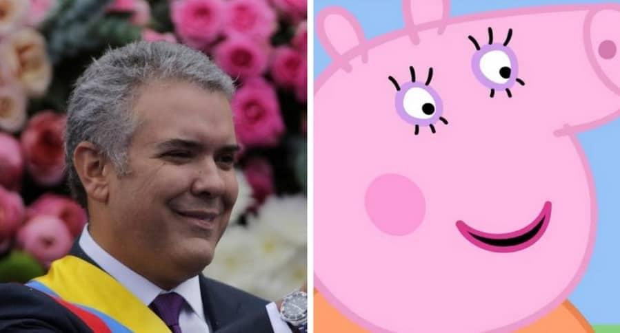 Iván Duque y Peppa Pig