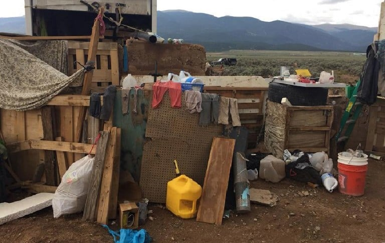 Lugar en el que los niños estaban cautivos, en Nuevo México