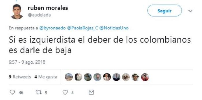 Amenaza Rubén Morales