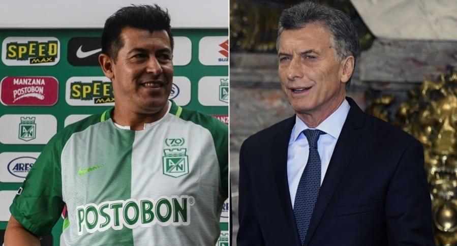 Jorge Almirón y mauricio Macri