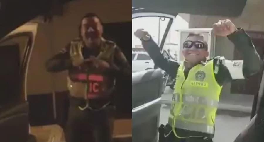 Policías haciendo el #KikiChallenge