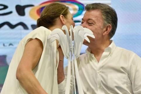María Clemencia Rodríguez de Santos, 'Tutina', y su esposo Juan Manuel Santos