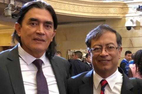Senadores Gustavo Bolívar y Gustavo Petro