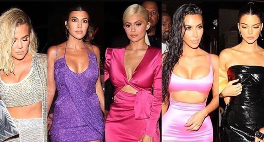 Khloé Kardashian, Kourtney Kardashian, Kylie Jenner, Kim Kardashian y Kendall Jenner