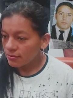 Leidy Viviana Urbano Ortega, enviada a la cárcel. En el recuadro, los tres agentes asesinados