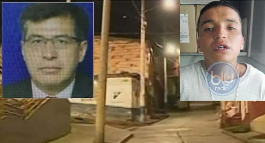 Álvaro Torres Murcia, víctima, y Jhon Anderson Medina Camacho, presunto asesino