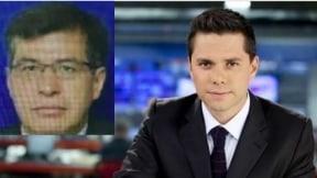 Luis Carlos Vélez, periodista, y en el recuadro la víctima Álvaro Torres Murcia