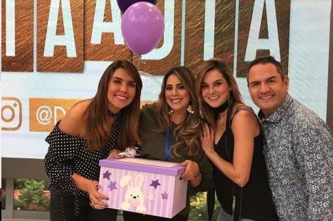 Mónica Rodríguez, Carolina Soto, Catalina Gómez y Mauricio Vélez, presentadores.