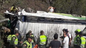 Bus accidentado en Santander