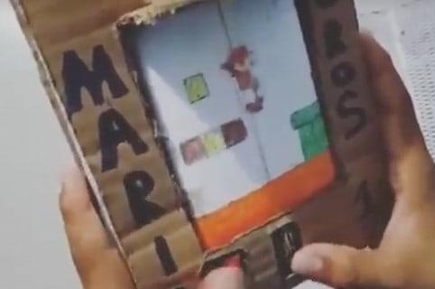 Juego Mario Bross de cartón