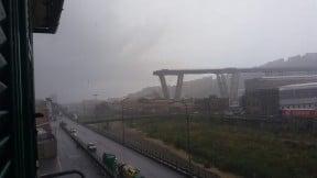 Derrumbe de puente en Génova, Italia